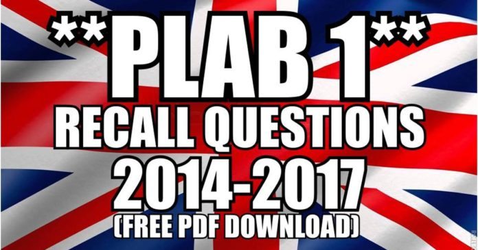 PLAB 1 Recall Questions
