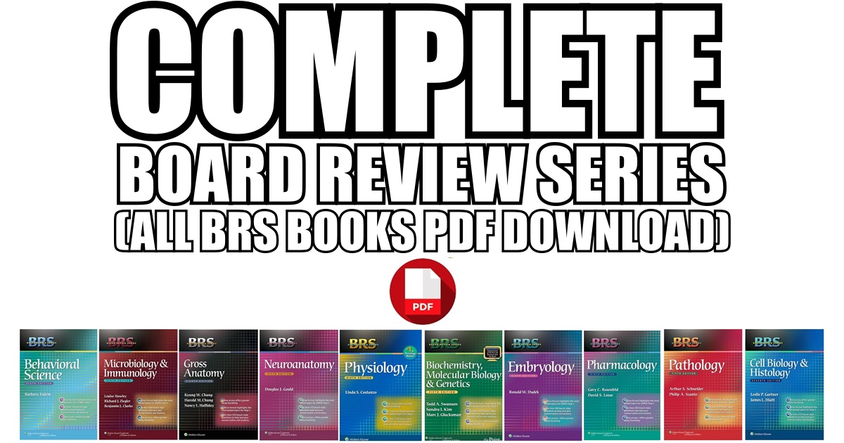All BRS Books PDF Free Download [Complete Board Review Series]