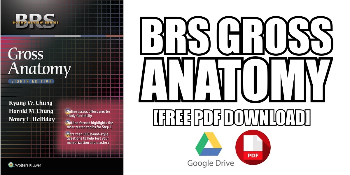 BRS Gross Anatomy PDF Free Download [Direct Link]