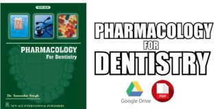 Pharmacology for Dentistry PDF