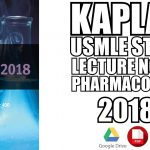 Kaplan USMLE Step 1 Lecture Notes Pharmacology 2018 PDF