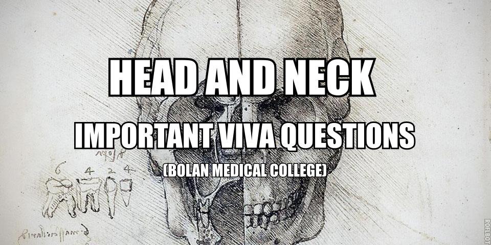 Head & Neck Anatomy Important Viva Questions | Medicos Republic