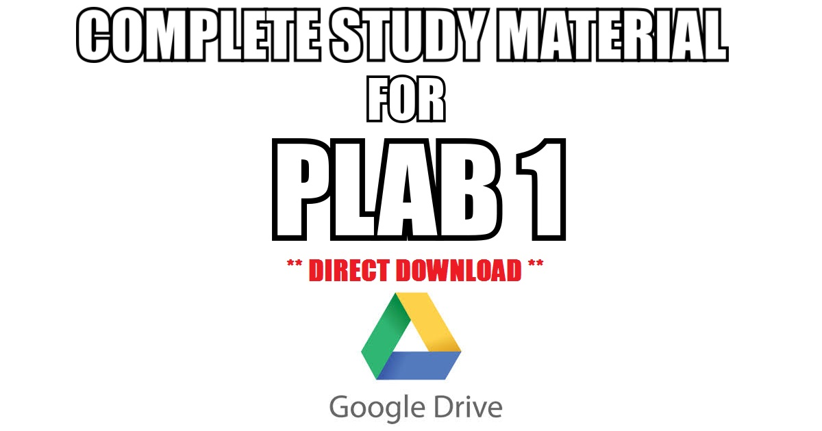 Complete Study Material For PLAB 1