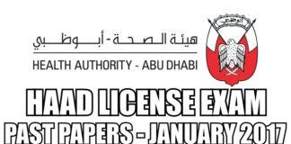 HAAD License Exam Past Paper