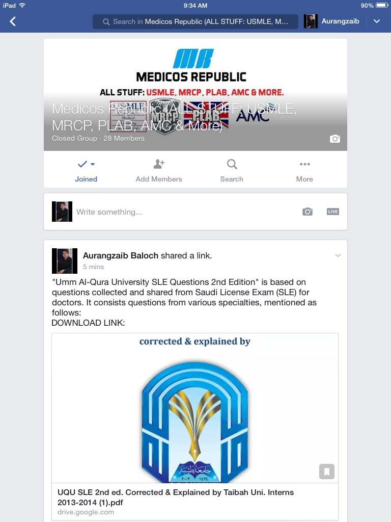 Medicos Republic Facebook Group