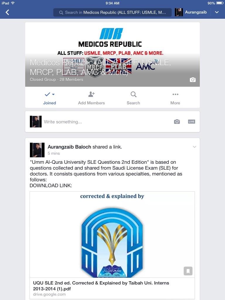 Medicos Republic Facebook Group