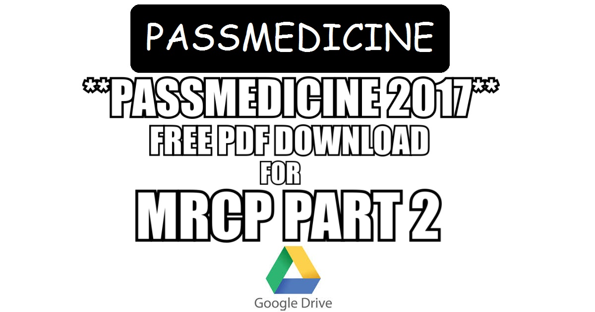 Passmedicine 2017 pdf free download for mrcp part 2 direct links the passmedicine fandeluxe Gallery