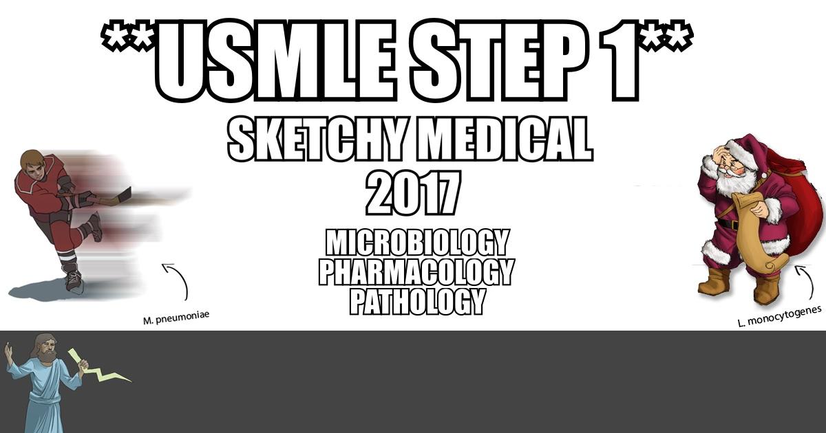 Sketchy Medical 2017 PDF Free Download (Micro + Pharm + Path)
