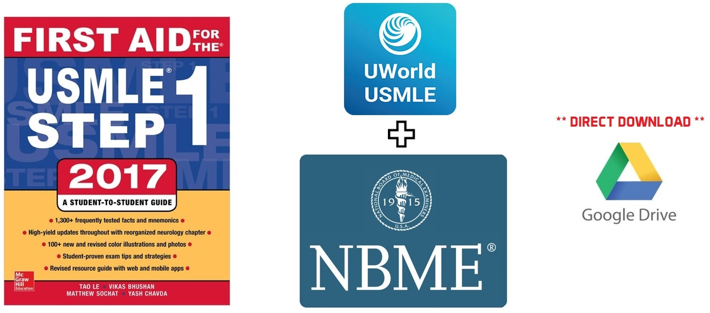 First Aid for USMLE 2017 UWorld NBME PDF Free Download
