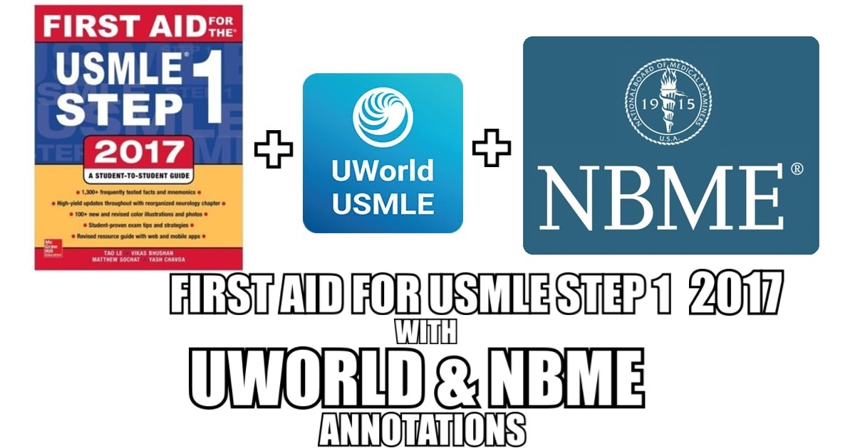First Aid for USMLE Step 1 2017 with UWorld & NBME Annotations