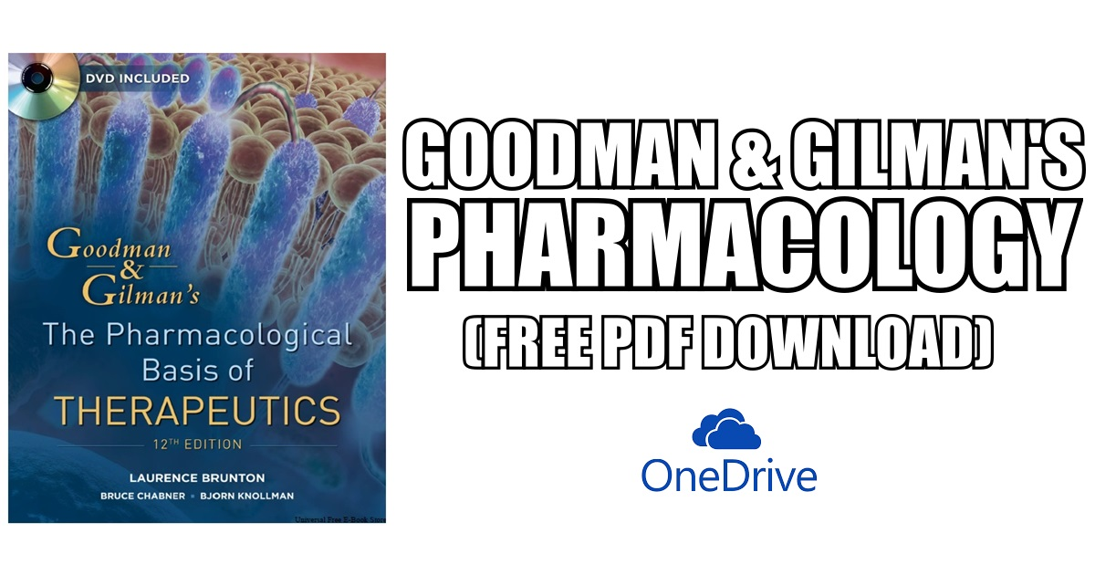 Goodman & Gilman\'s Pharmacology PDF Free Download [Direct Link]