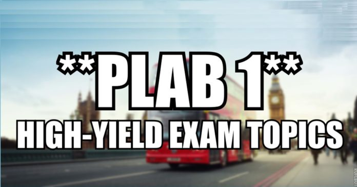 High-Yield PLAB 1 Topics