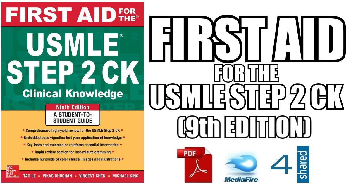 First Aid for the USMLE Step 2 CK 9th Edition PDF Free Download