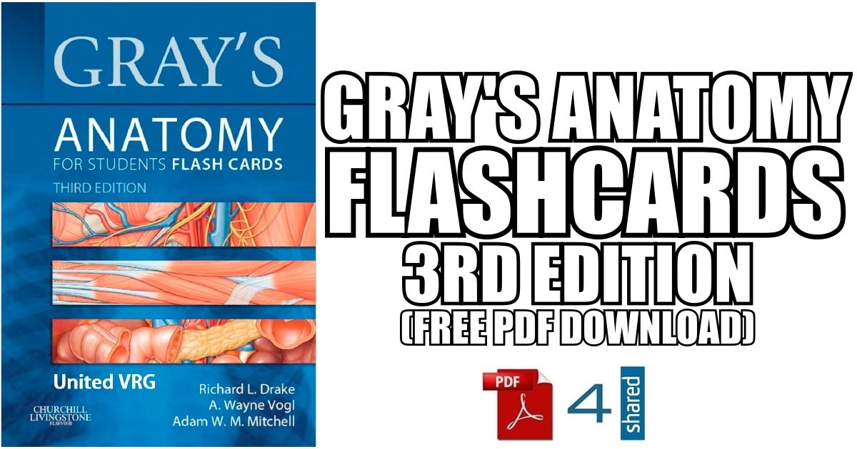 Gray\'s Anatomy for Students Flash Cards PDF Free Download