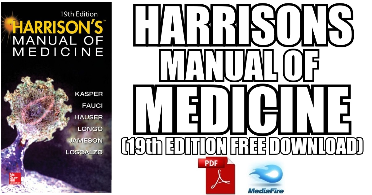 Harrisons Manual of Medicine 19th Edition (Book Cover Image)