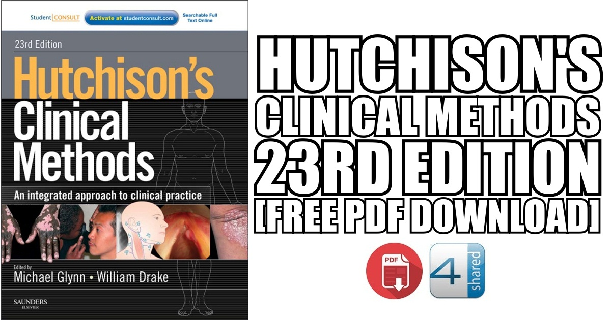 Hutchison's Clinical Methods 23rd Edition PDF