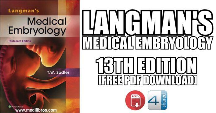 Langman's Medical Embryology 13th Edition PDF