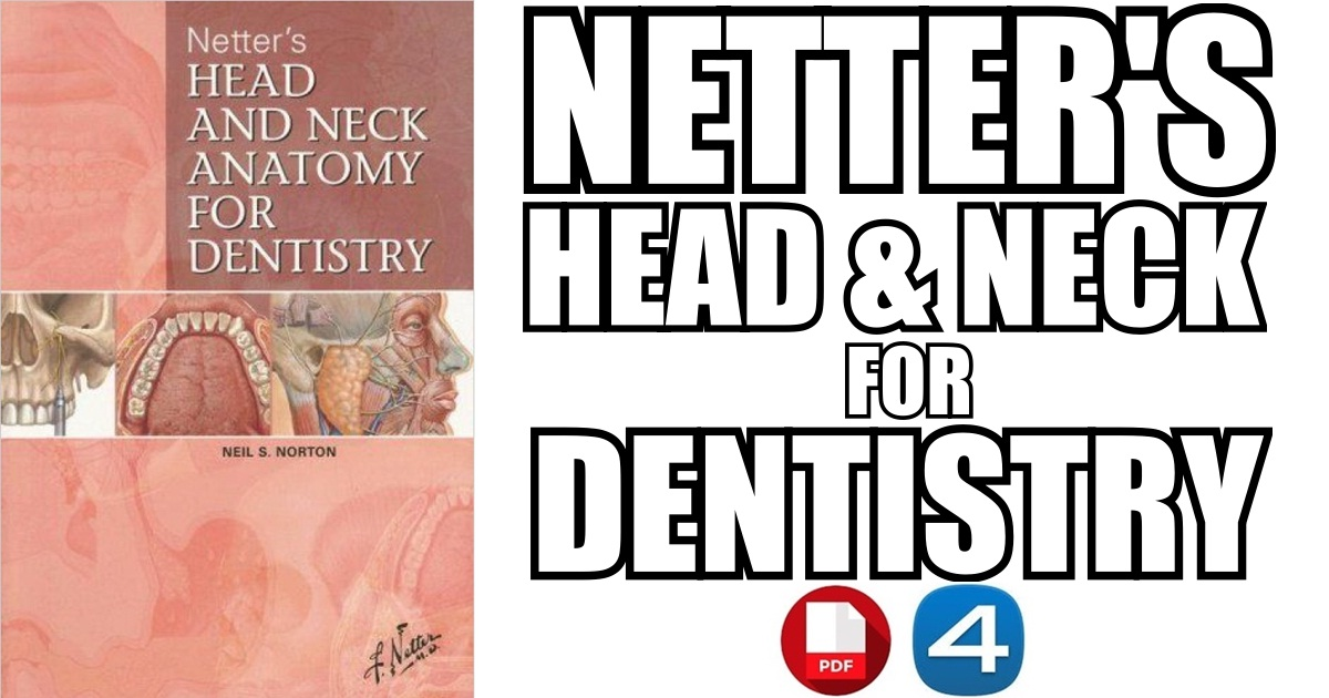 Netter\'s Head and Neck Anatomy for Dentistry PDF Free Download