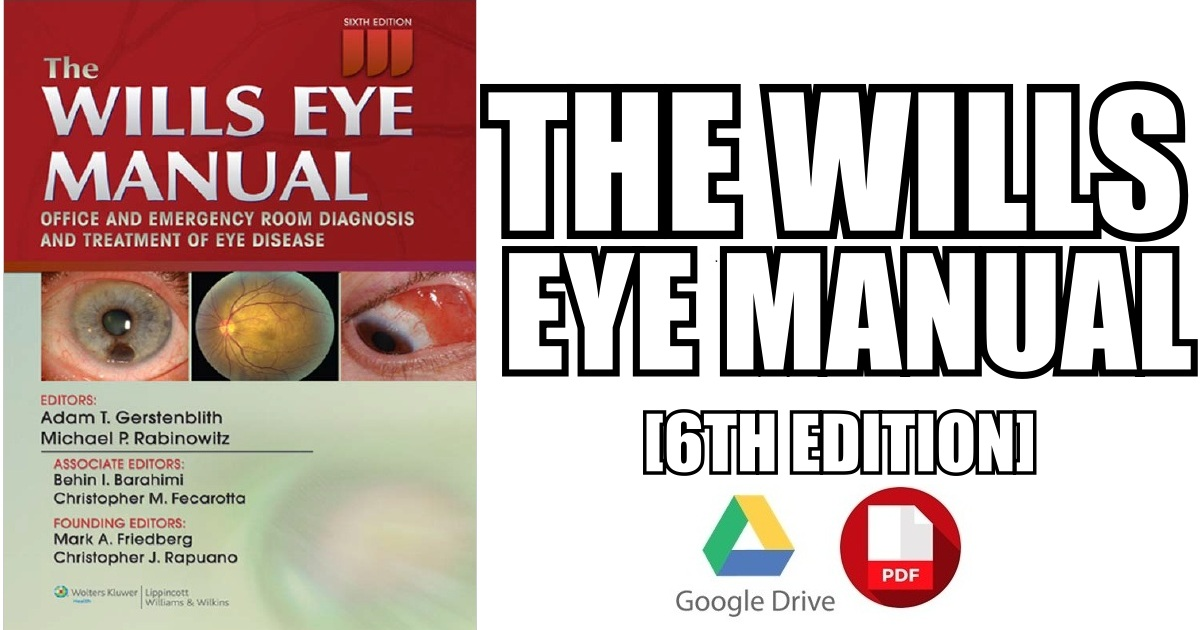 the wills eye manual pdf free download direct link rh medicosrepublic com Wills Eye Manual International Edition Wills Eye Manual 6th Edition