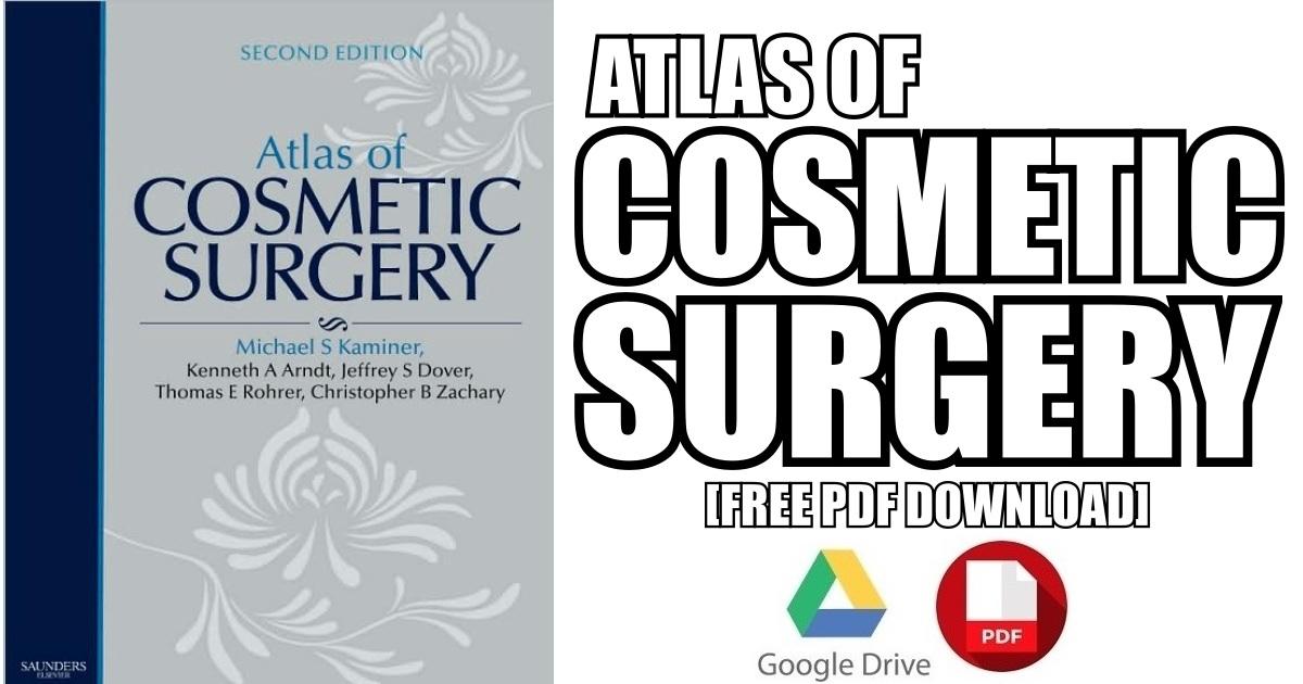 Atlas of Cosmetic Surgery PDF