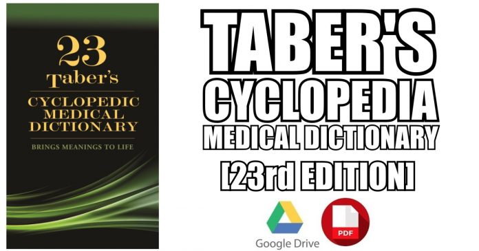 Taber's Cyclopedic Medical Dictionary 23rd Edition PDF