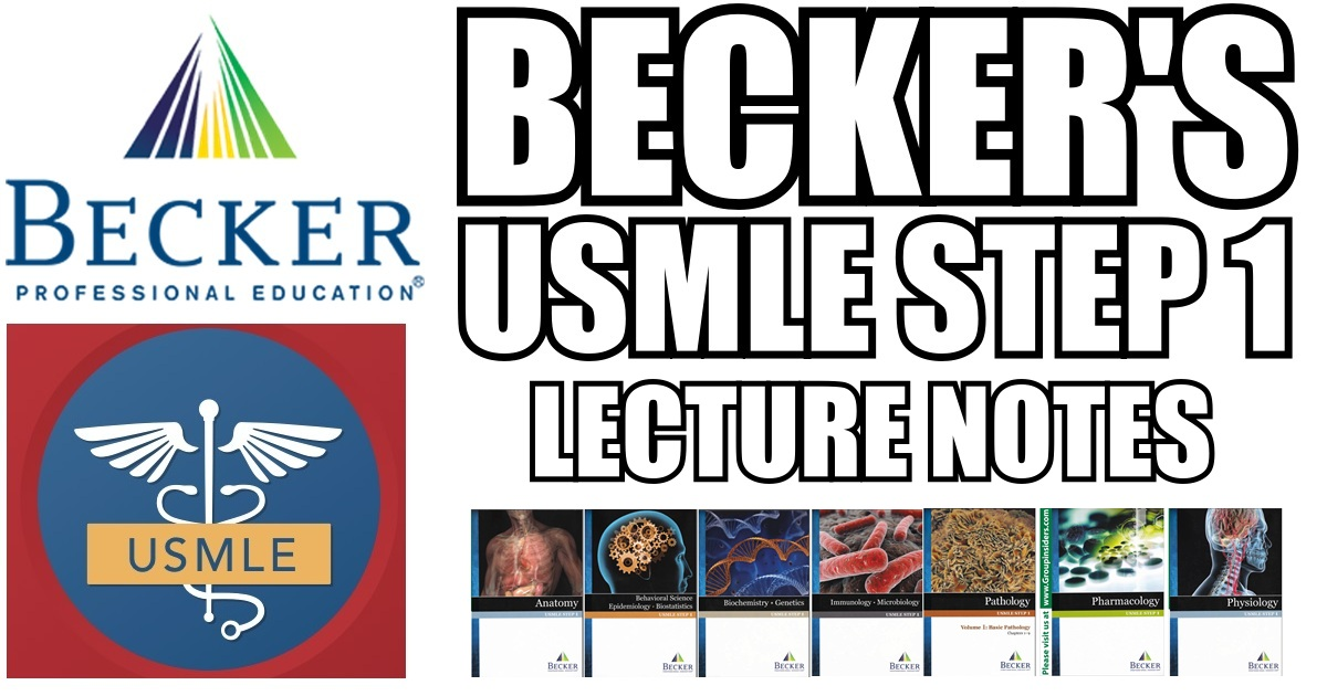 Becker USMLE Step 1 Lecture Notes PDF Free Download [Full