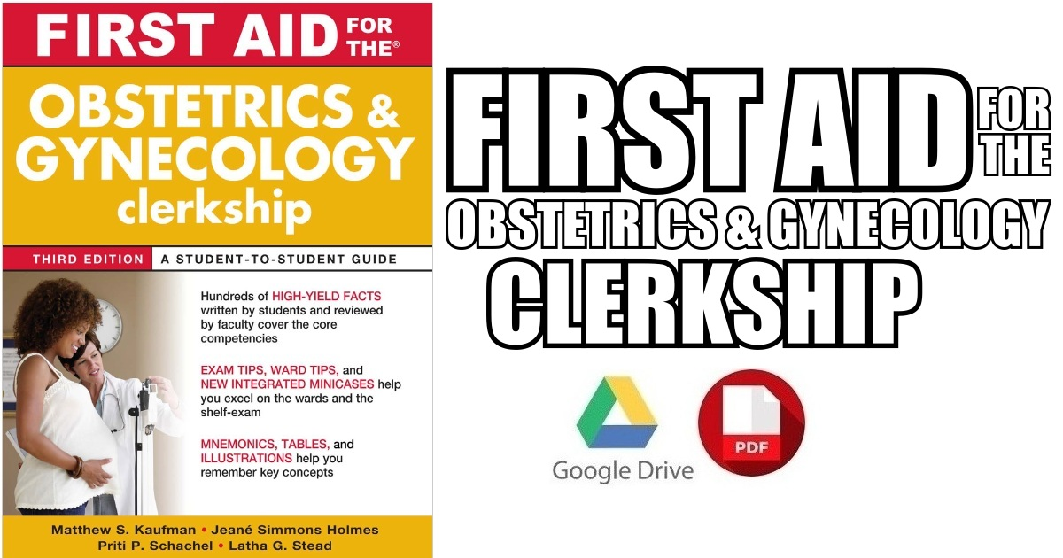 First Aid for the Obstetrics and Gynecology Clerkship 3rd Edition PDF