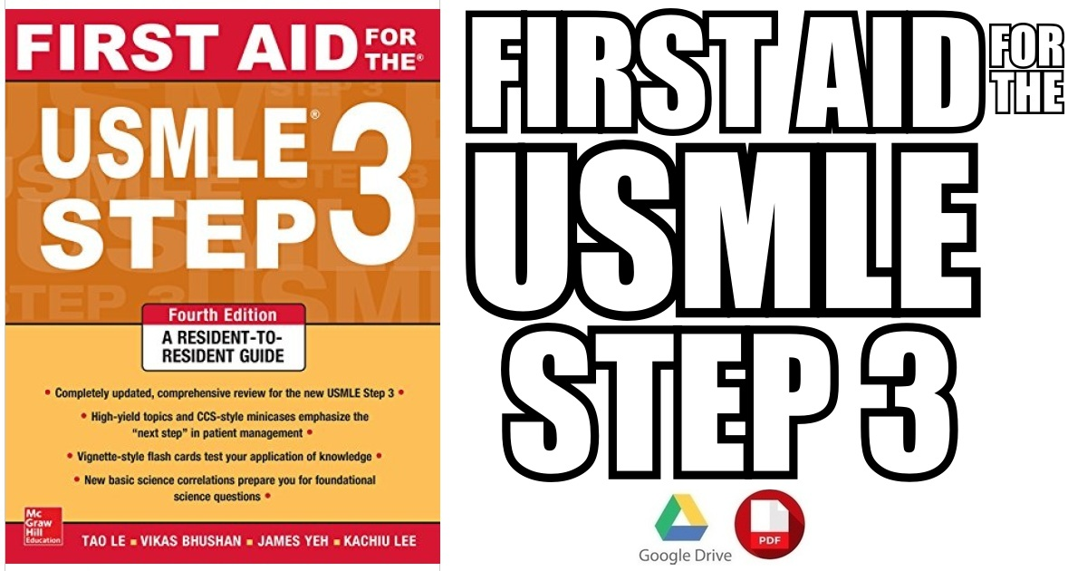 First Aid for the USMLE Step 3 4th Edition PDF
