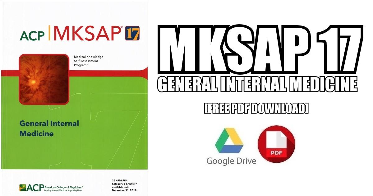 MKSAP 17 General Internal Medicine PDF