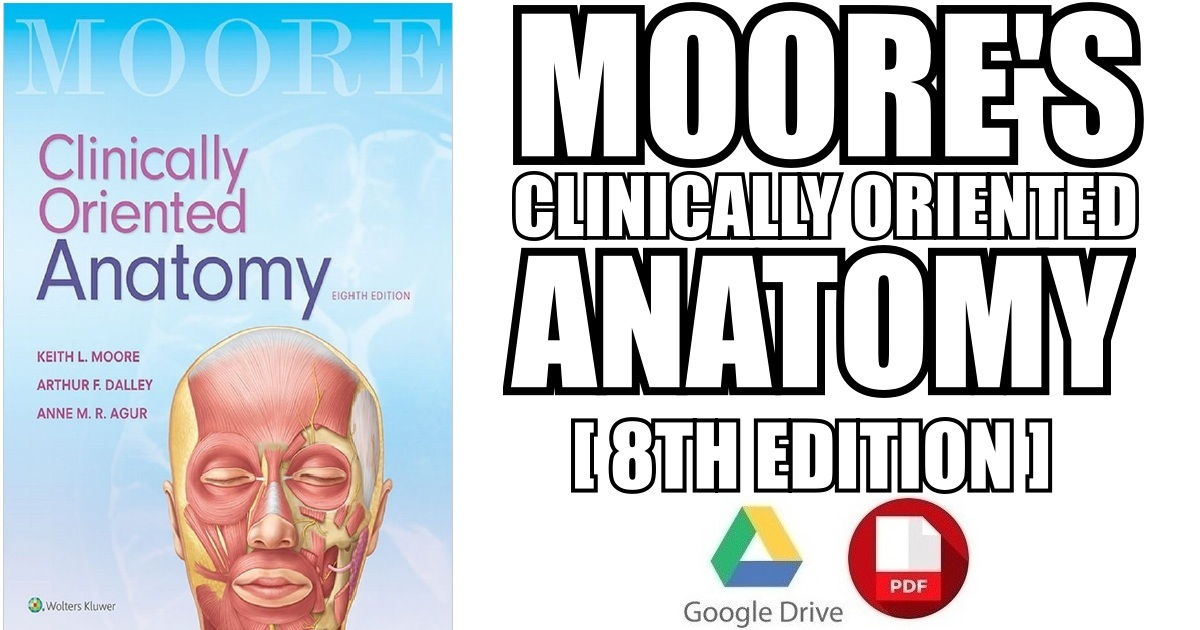 Moore's Clinically Oriented Anatomy 8th Edition PDF