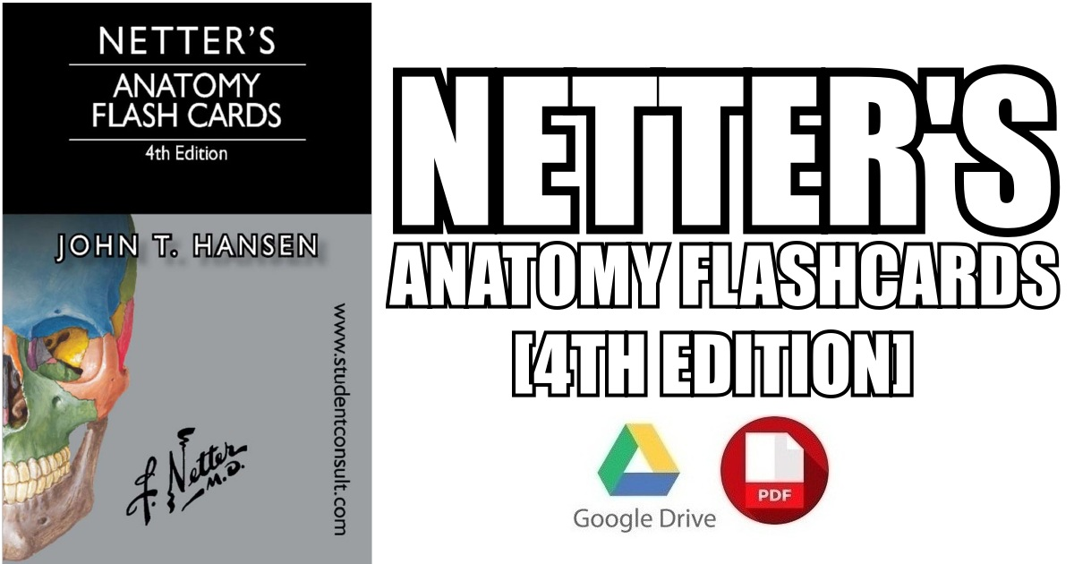 Netters Anatomy Flash Cards 4th Edition Pdf Free Download Direct Link