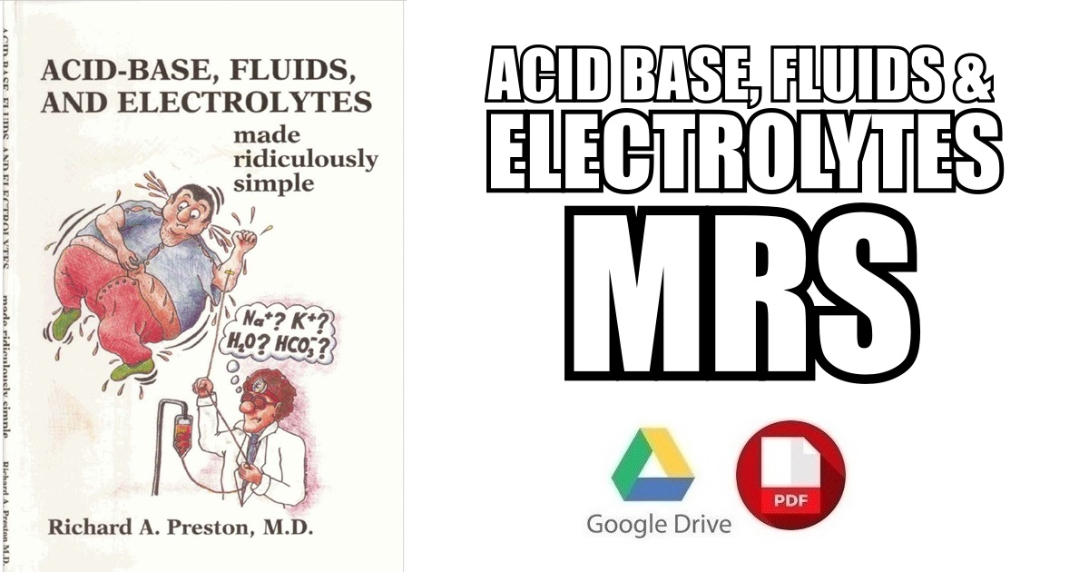 Acid Base Fluids And Electrolytes Made Ridiculously Simple Pdf