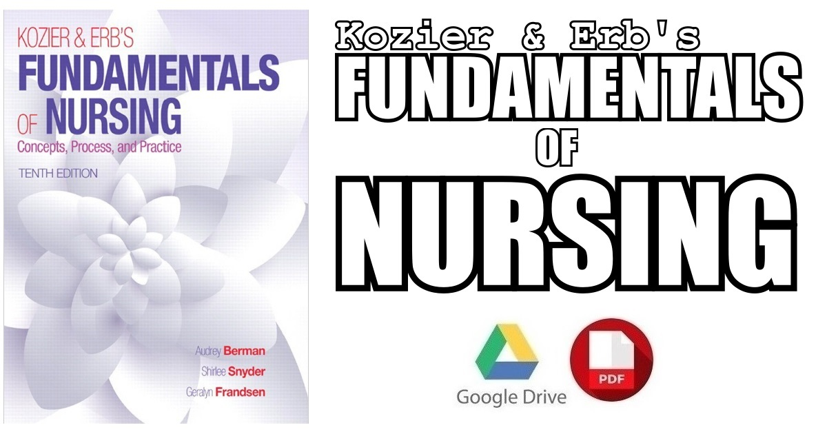 Kozier & Erb\'s Fundamentals of Nursing 10th Edition PDF Free Download
