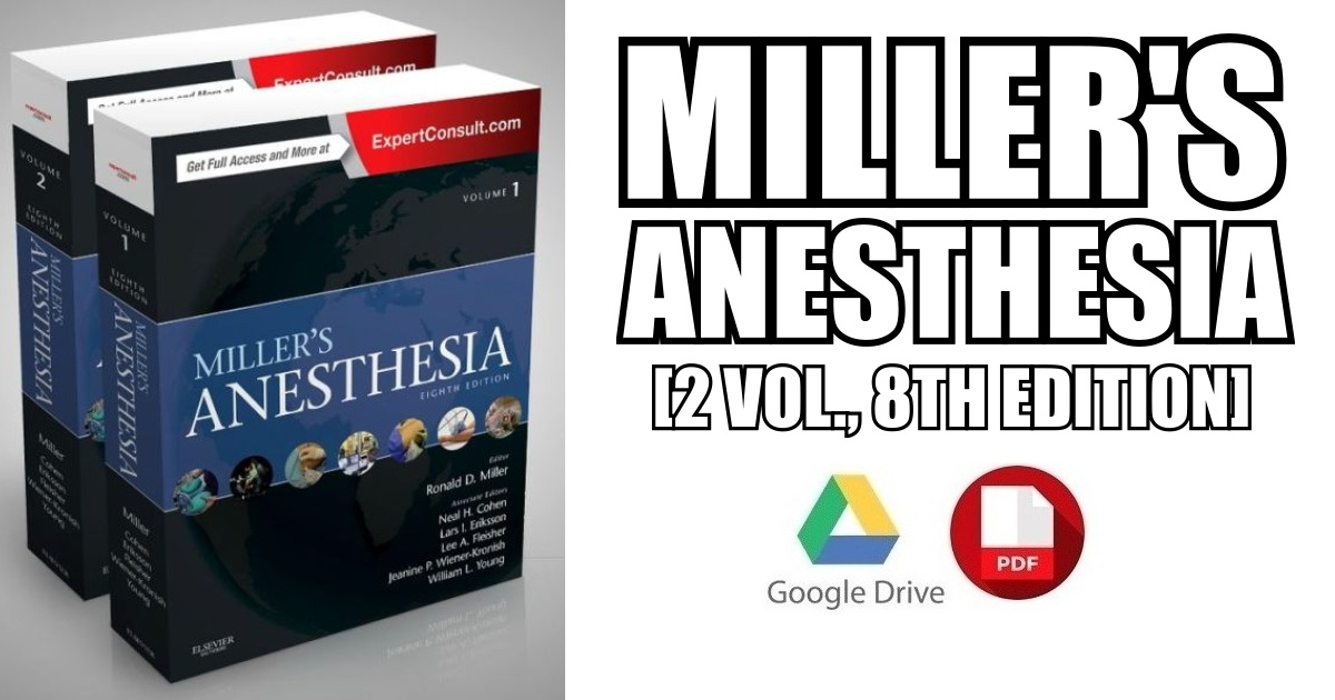 Miller's Anesthesia, 2-Volume Set 8th Edition PDF Free