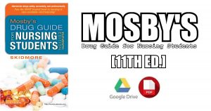 Mosby's Drug Guide for Nursing Students 11th Edition PDF