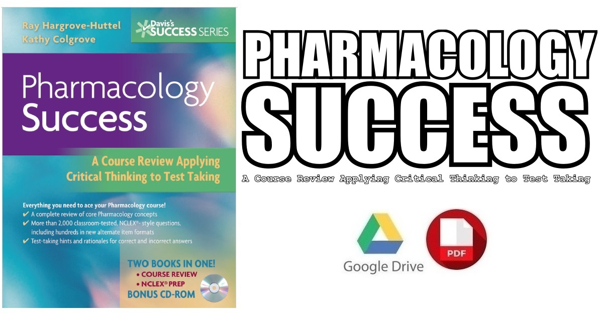 Pharmacology Success 1st Edition PDF