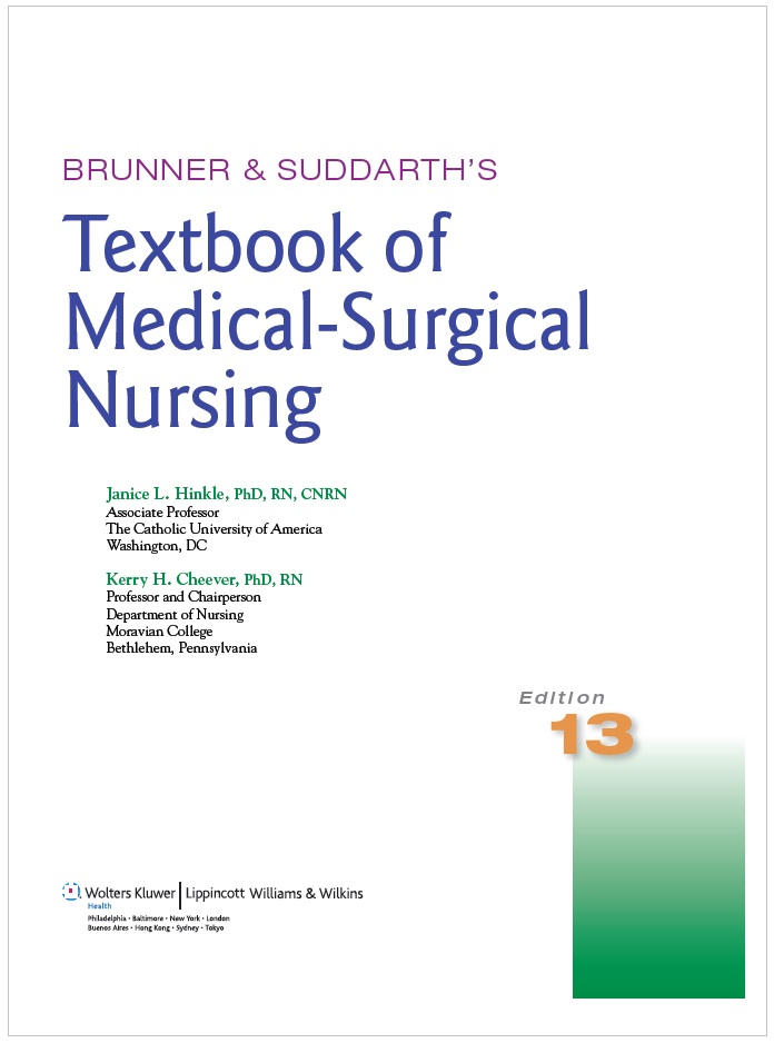 Brunner and Suddarth Textbook of Medical-Surgical Nursing PDF