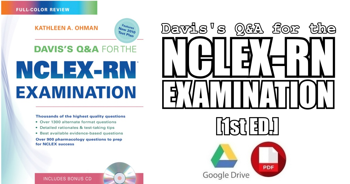 Davis's Q&A for the NCLEX-RN Examination 1st Edition PDF