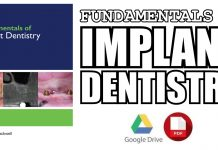 Fundamentals of Implant Dentistry 1st Edition PDF