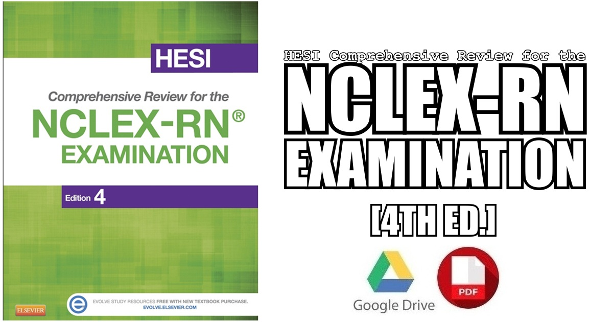 HESI Comprehensive Review for the NCLEX-RN Examination 4th Edition PDF