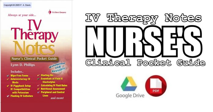 IV Therapy Notes: Nurse's Clinical Pocket Guide PDF