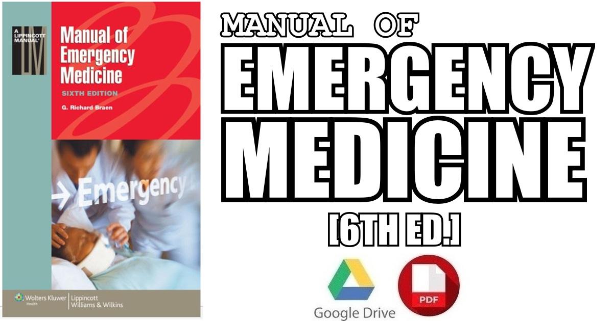 Manual of Emergency Medicine 6th Edition PDF Free Download