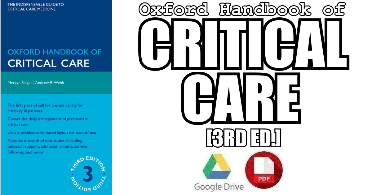 Oxford Handbook of Critical Care 3rd Edition PDF