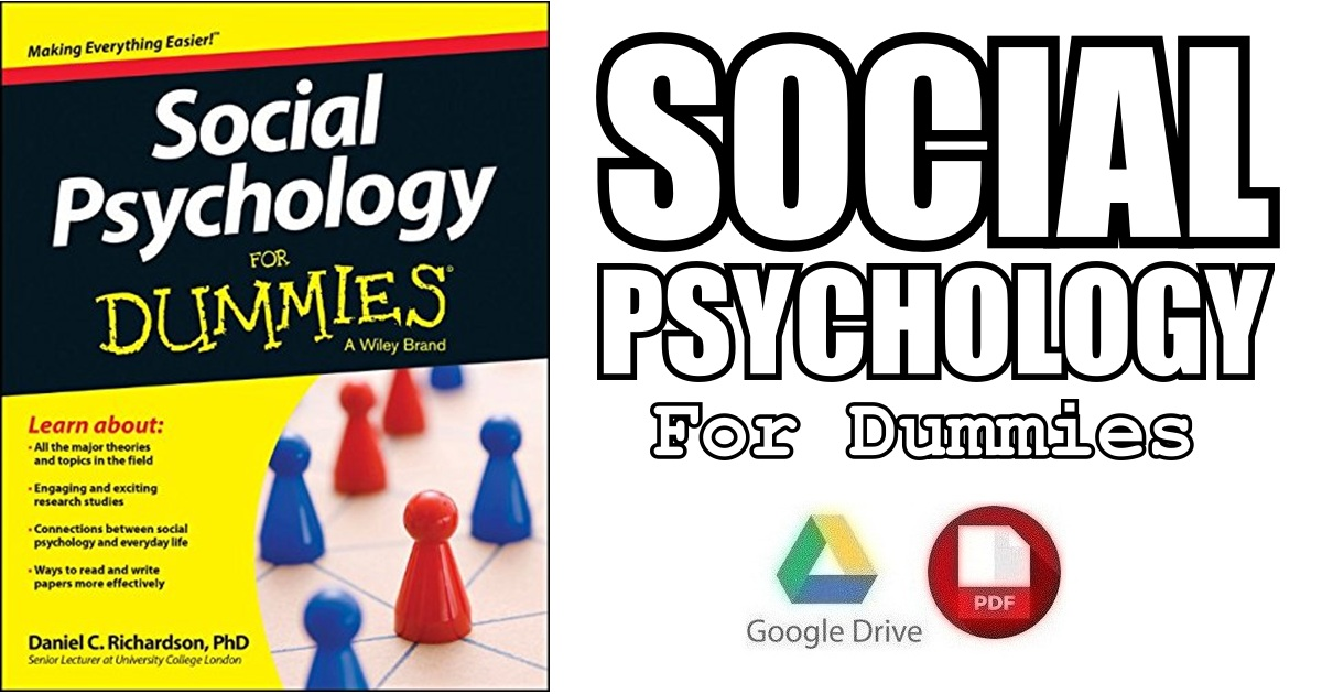 Social Psychology For Dummies Pdf Free Download Direct Link