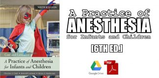 A Practice of Anesthesia for Infants and Children 6th Edition PDF