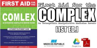 First Aid for the COMLEX: An Osteopathic Manipulative Medicine Review PDF