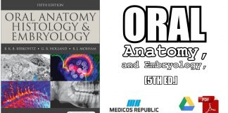 Oral Anatomy, Histology and Embryology 5th Edition PDF