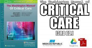 The Washington Manual of Critical Care 3rd Edition PDF
