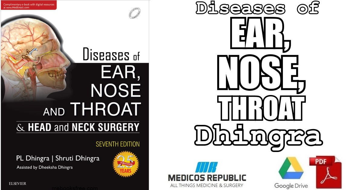 Diseases of Ear, Nose and Throat 7th Edition PDF Free Download