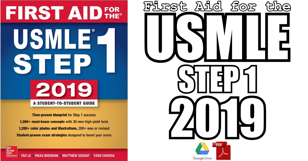 First Aid for the USMLE Step 1 2019 29th Edition PDF Free